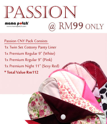 Passion Premium Pack-Cloth pad, washable pad