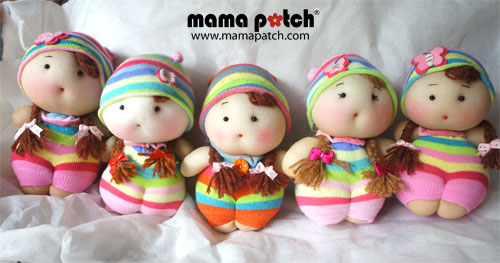 Handmade-Rainbow Dollies-